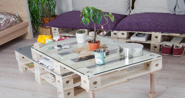 Logement confordomo for Fabrication meuble avec palette bois